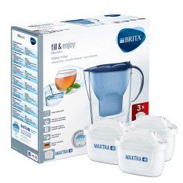 BRITA Marella jarra de filtro de agua Blanco paquete inicial de 3 meses 3 Cartuchos Maxtra