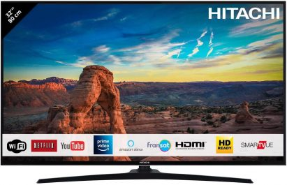 Clase energ/ética A + Full HD, sintonizador Triple, Smart TV, WiFi, BT Hitachi 32HE4000 TV de 81 cm 32 Pulgadas