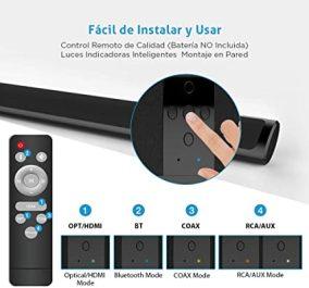 Barras de Sonido para TV Bluetooth Barra de Sonido de Cine en Casa Sonido Envolvente