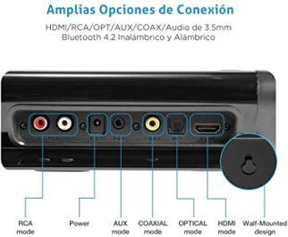 Rich Bass Control Remoto Opt HDMI Coax AUX RCA comprar amazon